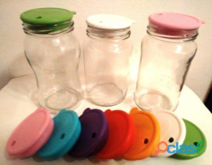 Tapas de silicona para frascos perforadas