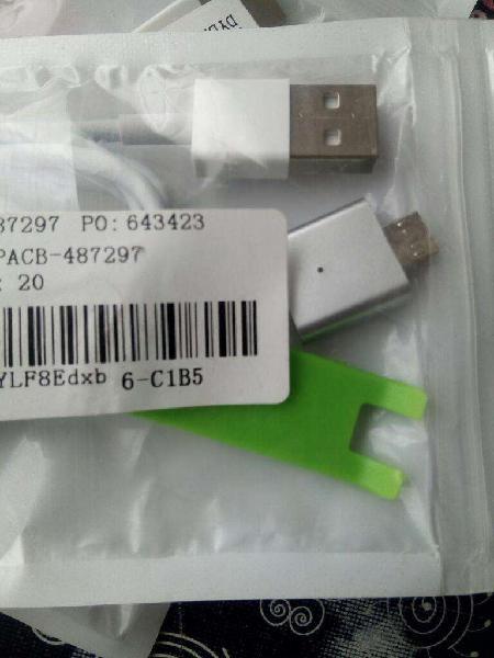 Cable usb magnetico carga y datos celu. samsung lg motorola