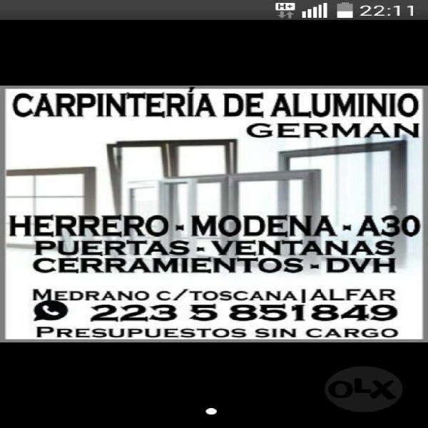Carpintero de aluminio