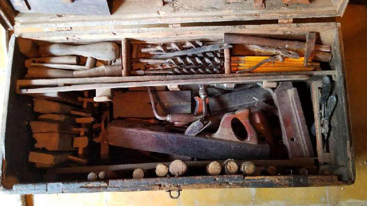 Lote herramientas antiguas carpintero ebanista, carpinteria