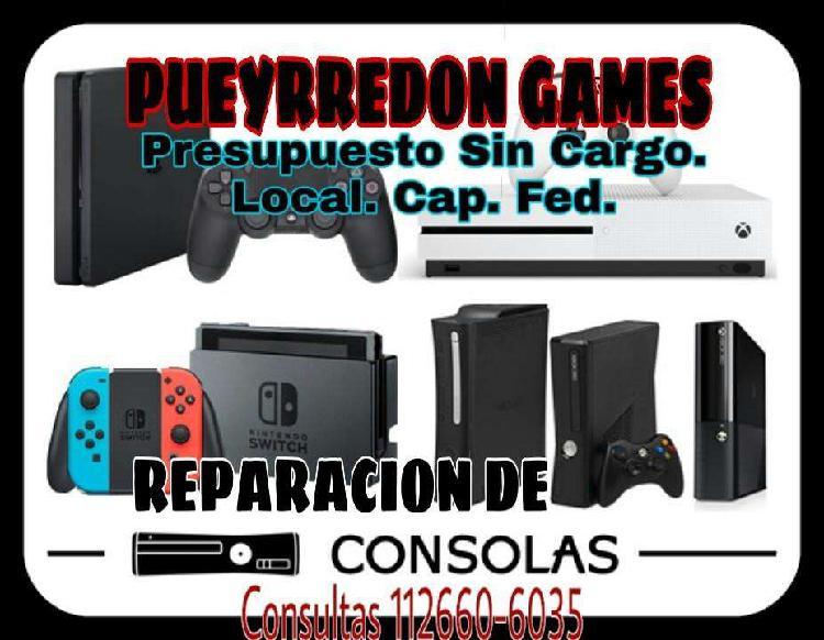 Servicio tecnico ps4 ps3 wii xbox ps2. local. cap. fed.