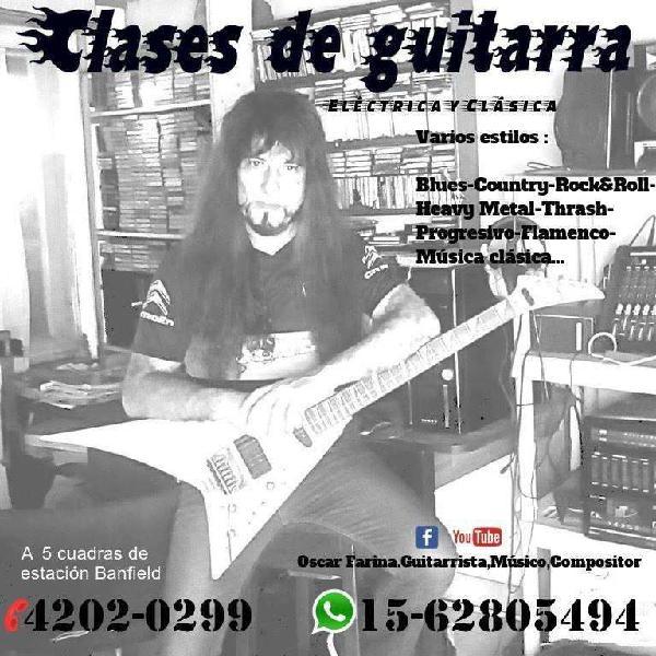 Clases de guitarra elëctrica y clásica, banfield