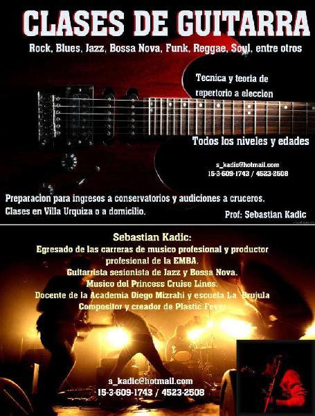 Clases de guitarra todos los niveles v. urquiza y a domic