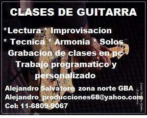 Clases de guitarra electrica y clasica. zona norte gba
