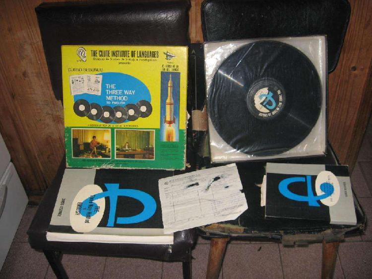 Coleccion discos de vinilo curso de guitarra e ingles