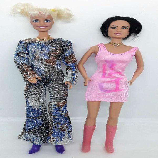 Lote 2 muñecas barbies spice girl con detalles
