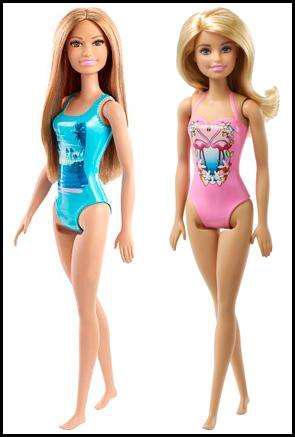 Muñeca barbie de playa original, nueva.