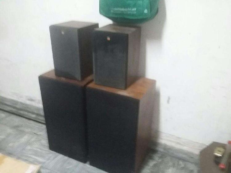 Parlantes yamaha caja madera