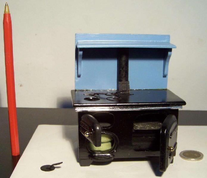 Cocina economica miniatura, escala 1:12, casa de muñecas