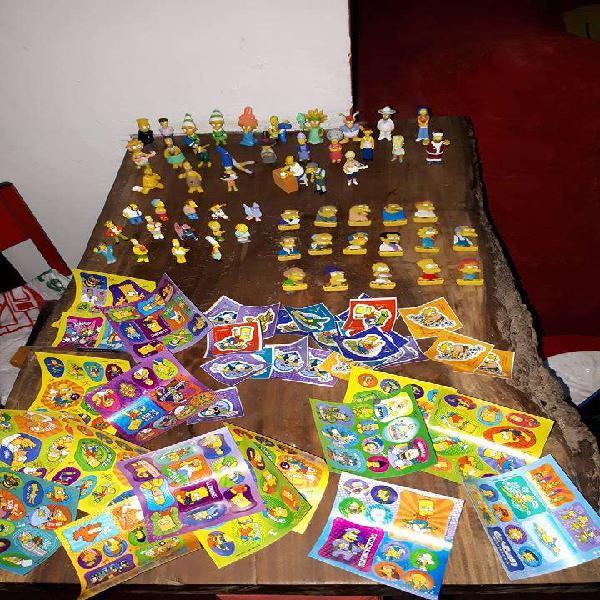Coleccion miniaturas jack de los simpsons 56 figuras de