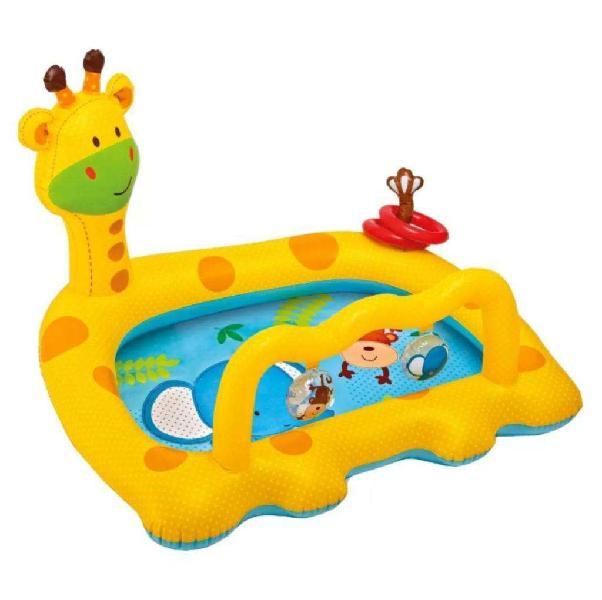 Pileta pelotero gimnasio inflable intex jirafa bebes