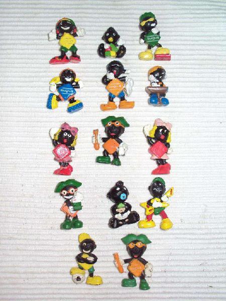 Antiguos muñecos sugus miniaturas lote de 14 unidades