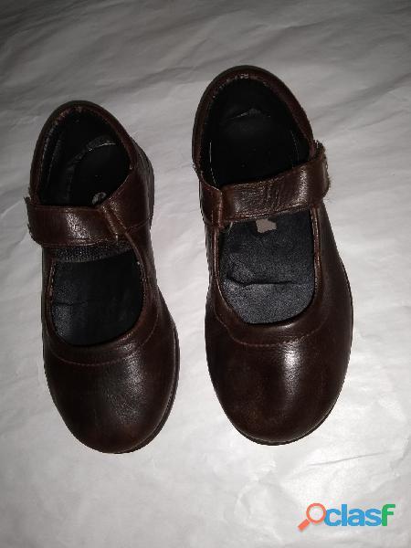 Zapatos cuero guillermina colegial 30+plantilla 20+zuela goma