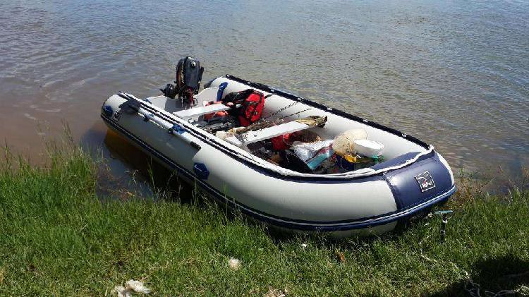 Bote inflable 4.20 con motor mercury 15 hp ambos mod. 2018