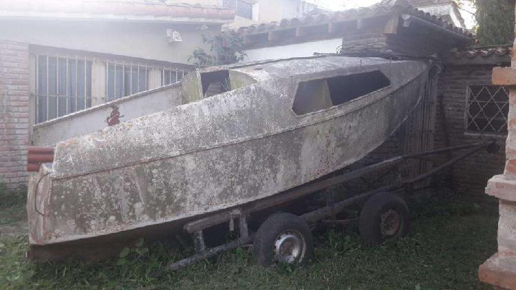 Barquito sin motor c/trailer doble eje