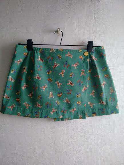 Pollera o falda vintage con ositos