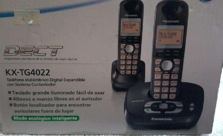 Telefono inalambrico panasonic modelo kxtg4022 contestador