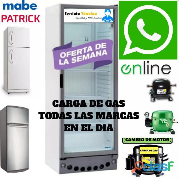SERVICE HELADERAS COMERCIAL CARGA GAS OFERTA 24HS 1563835107 2