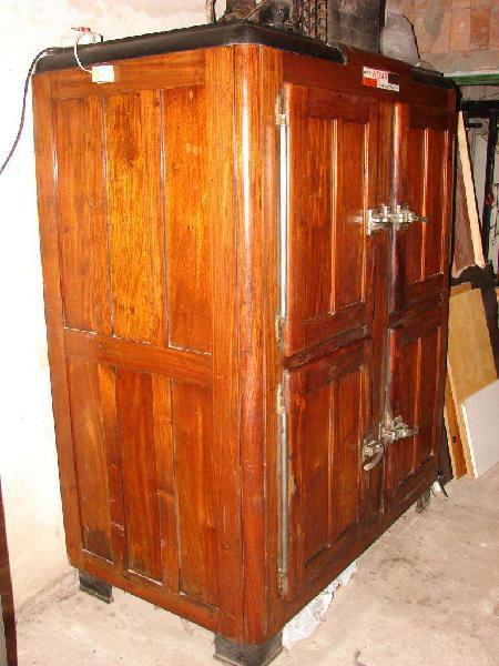 Heladera camara 4 puertas madera antigua