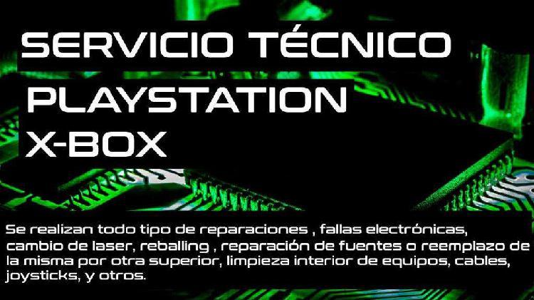 Servicio técnico sony playstation xbox