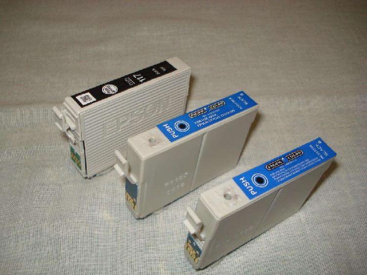 3 cartuchos Epson (usados a recargar)
