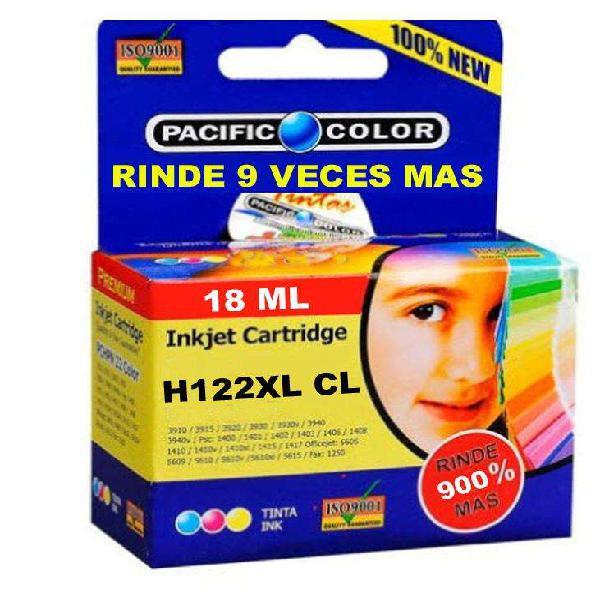 Cartucho impresora hp122 xl color rinde x9 veces alternativo