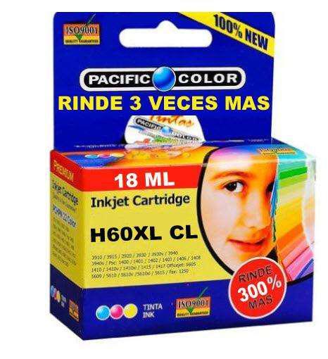 Cartucho impresora hp60 xl color rinde 3 veces alternativo