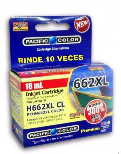 Cartucho impresora hp662 xl color maxima carga alternativo