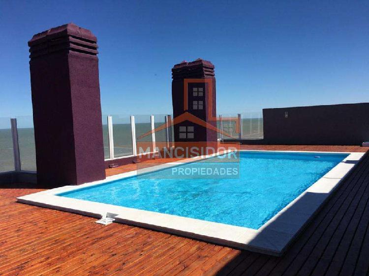 Mancisidor prop◄ hermoso depto frente al mar c/balcón