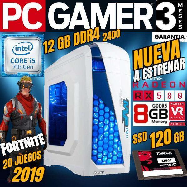 Pc gamer vr ready core i5 12 gb ddr4 rx580 8gb ssd 20 juegos