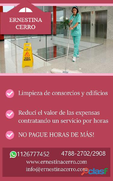 Limpieza de consorcios edificios y oficinas