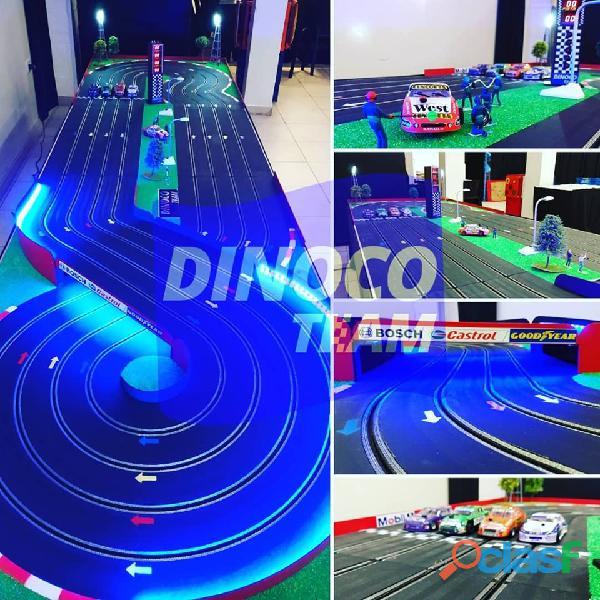 Alquiler pista de autos scalextric profesional. juegos slot