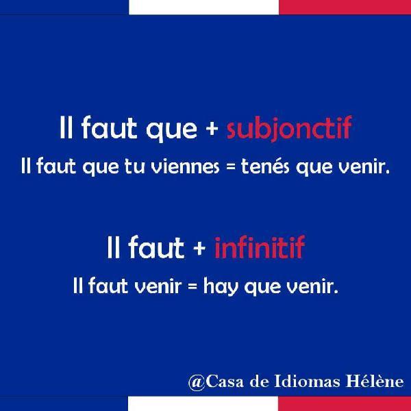 Clases francés profesorado traductorado lenguas vivas