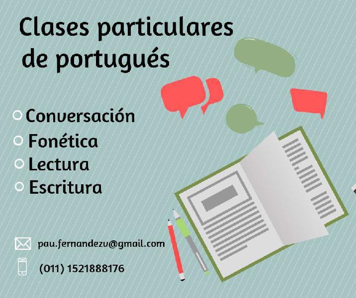 Clases particulares de portugués en caba y gba