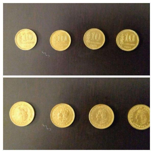 Moneda 10 centavos arg peso ley 18188