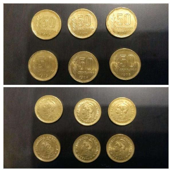 Moneda arg 50 centavos pesos ley 18188