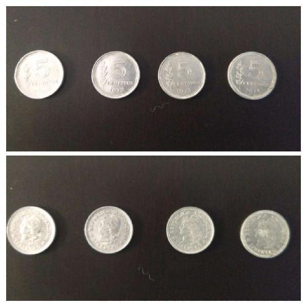 Moneda arg peso ley 18188 de 5 centavos
