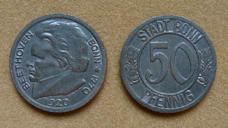 Moneda de 50 pfennig alemania bonn 1920 1 guerra mundial