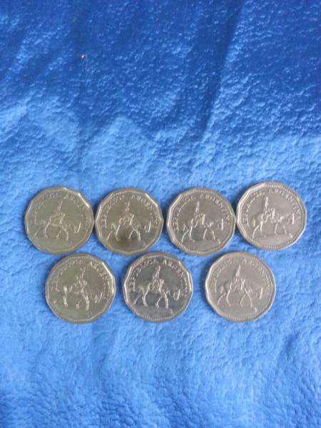 Monedas resero 10 pesos 1962 a 1968