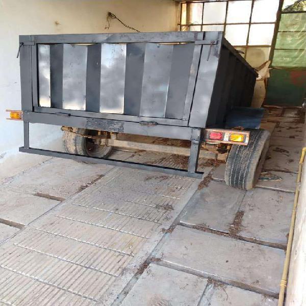 Se vende hermoso trailer batan carro reforzado de caño con