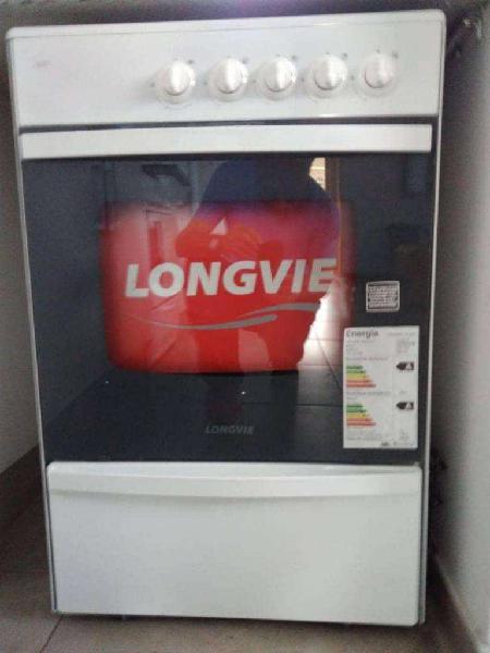 Cocina a gas longvie 13231bf 56cm blanca