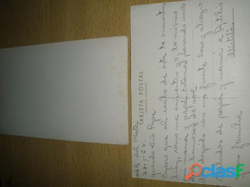 Gp1160 tarjeta postal antigua 1950