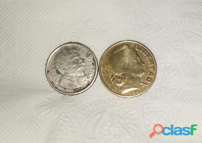Gp1160 monedas antiguas argentinas 1956