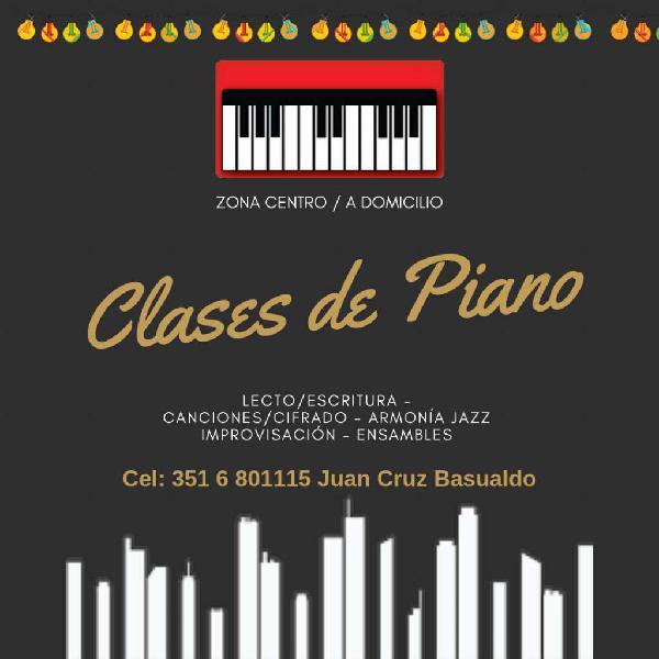 Clases de Piano. Zona Centro.a Domicilio