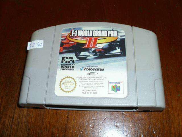 Nintendo 64 juego f1world grand prix europeo
