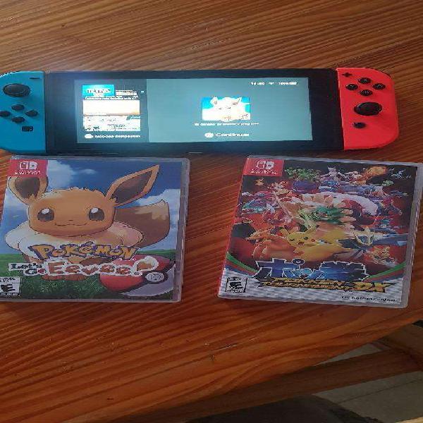 Nintendo switch 2 juegos 2 meses de uso