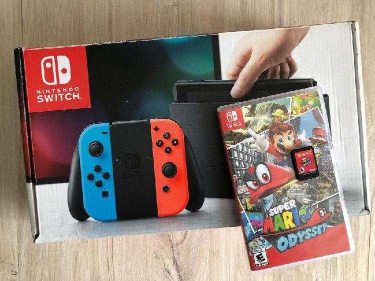 Nintendo switch como nueva juego fisic