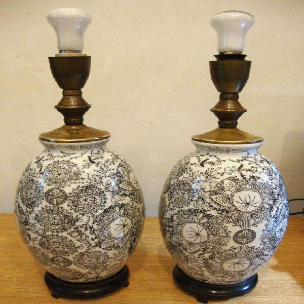 Veladores jarrón porcelana china muy buen estado