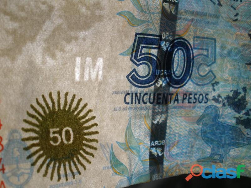 gp5600 Billete 50 Pesos Islas Malvinas Serie A