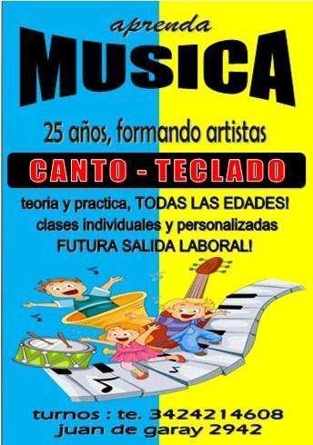 Musica escuela de teclado enseñanza curso diplomado